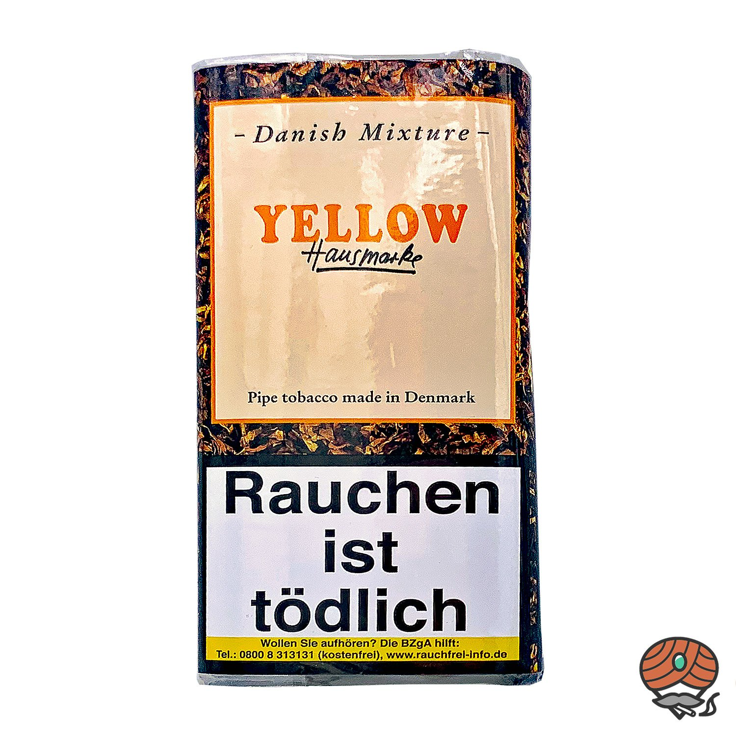 Danish Mixture Hausmarke Yellow Pfeifentabak 50g Pouch