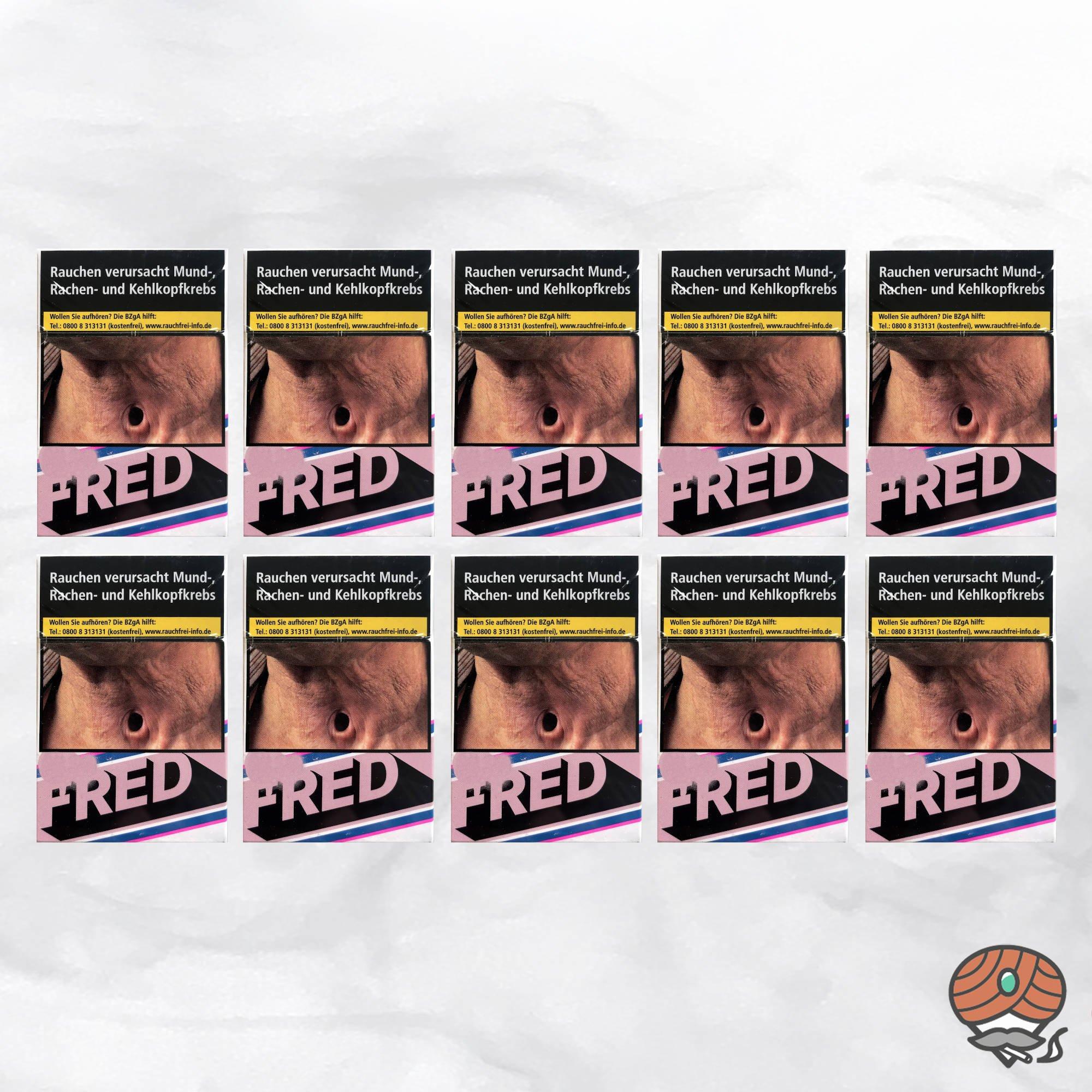 10 x Fred Roses Zigaretten à 20 Stück - 1 Stange