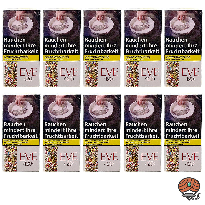 1 Stange Eve Filterzigaretten / Zigaretten - 120er Format - OP 10x20 Stück