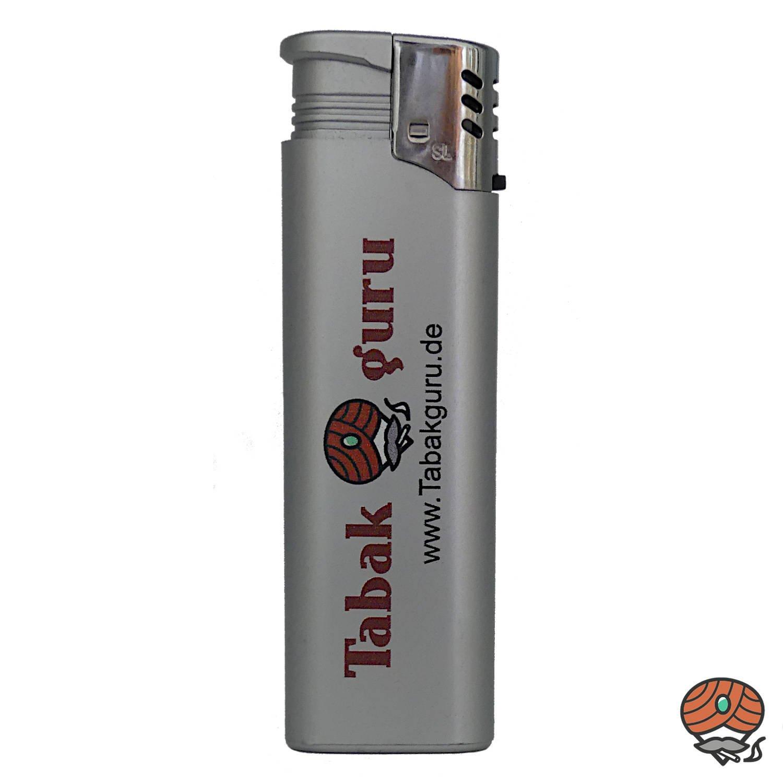 Tabakguru Jet-Flame Feuerzeug Silber