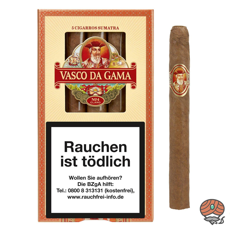 Vasco da Gama Cigarros Sumatra Claro No. 4 Zigarren, 5 Stück