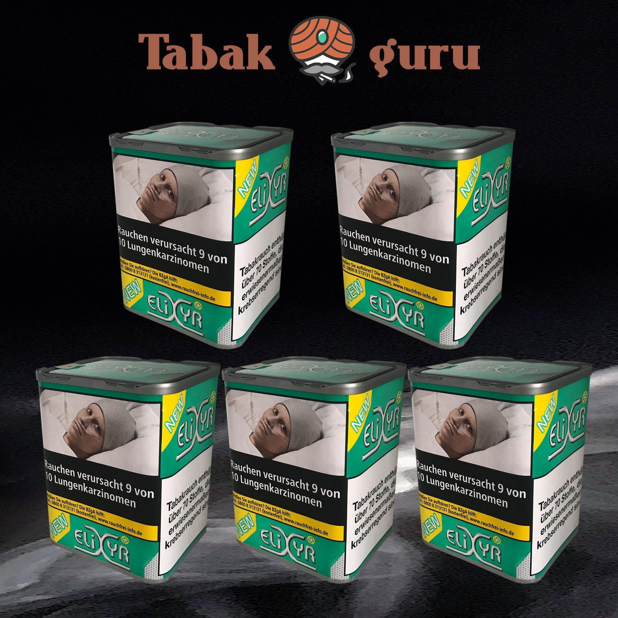 5 x Elixyr PLUS Tabak 115g Zigarettentabak