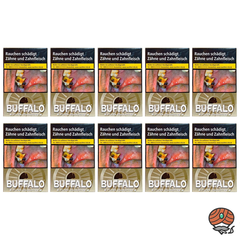 1 Stange Buffalo Fine Gold Filterzigaretten OP 10x20 Stück