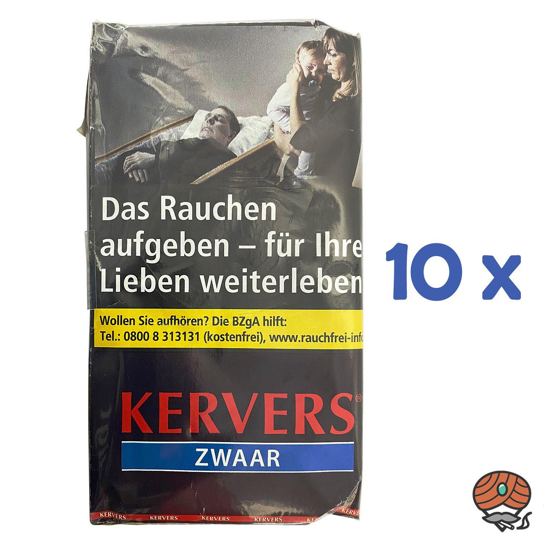 10x KERVERS Zwaar Drehtabak - Zigarettentabak - Tabak Pouch à 40 g