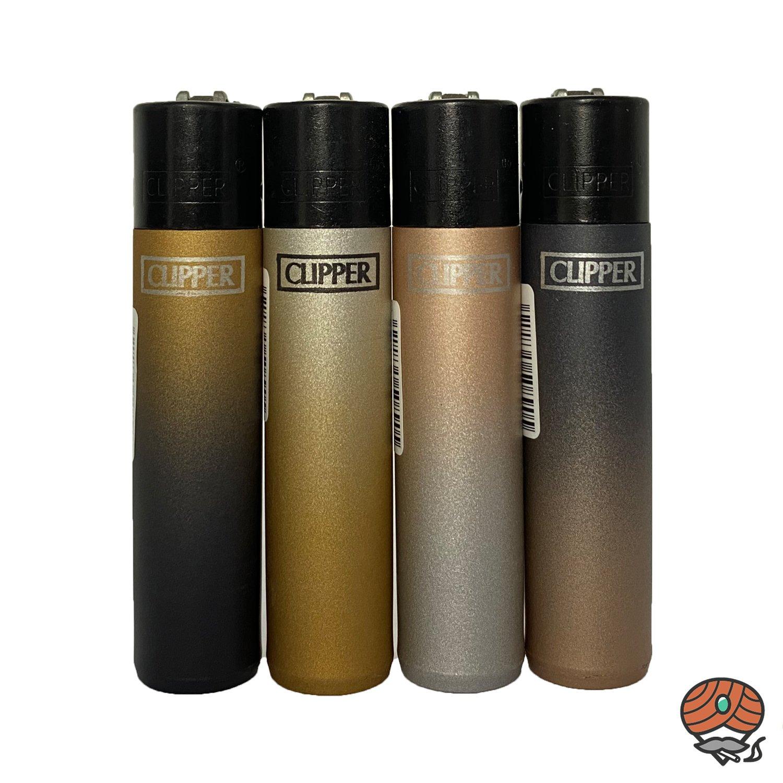 4 Clipper Reibradfeuerzeuge mit edlen Farbverläufen