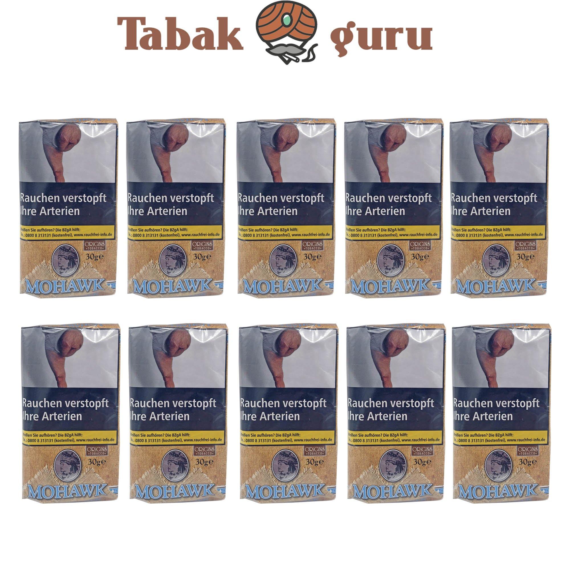10 x Mohawk Origins Tobacco 30g Drehtabak Zigarettentabak