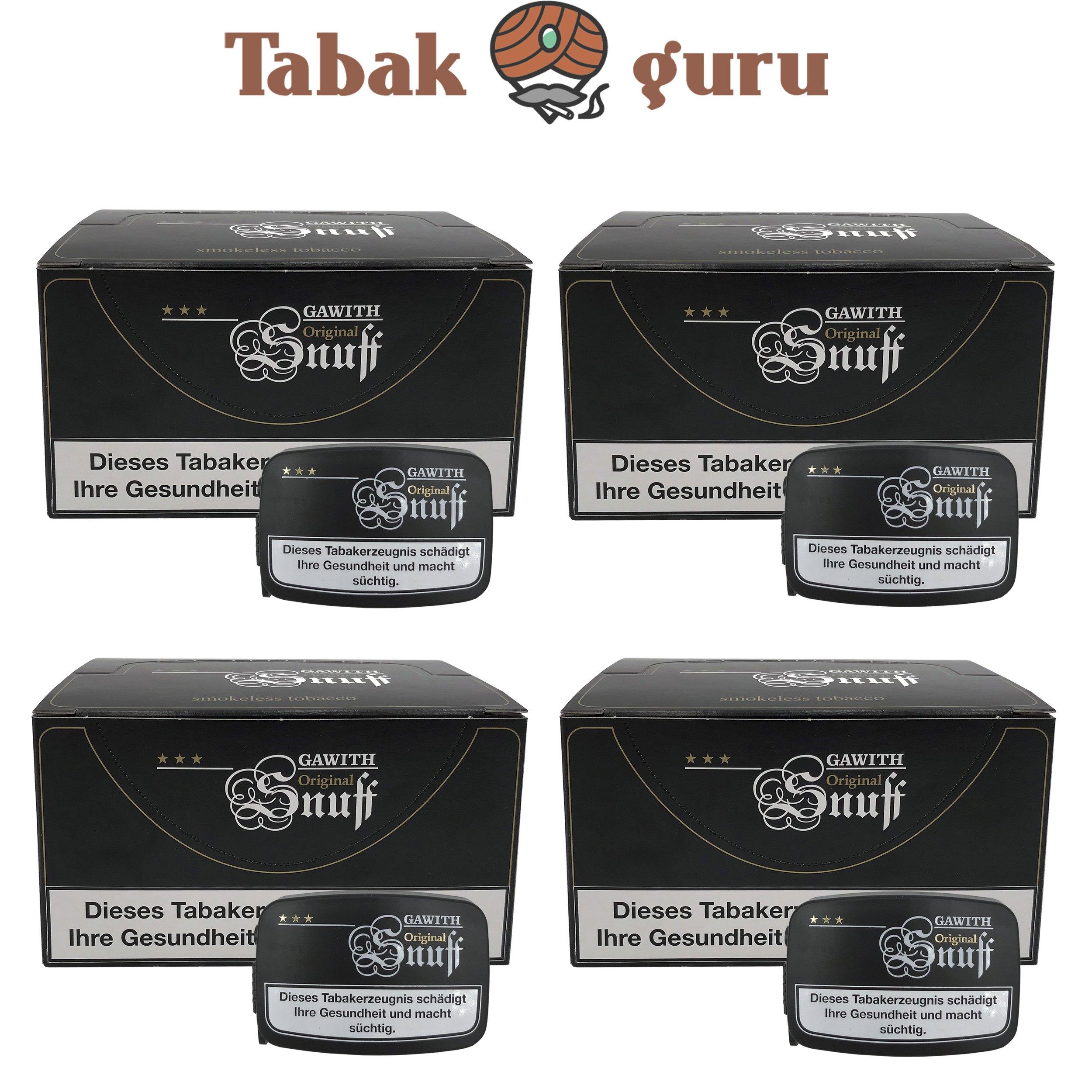 80x Gawith Original Snuff Schnupftabak Dose á10 g