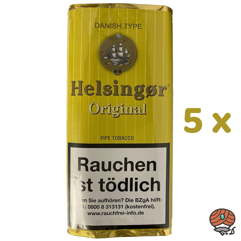 5x Helsingør Original Danish Type Pfeifentabak Pouch à 50g (ehem. Vanilla)
