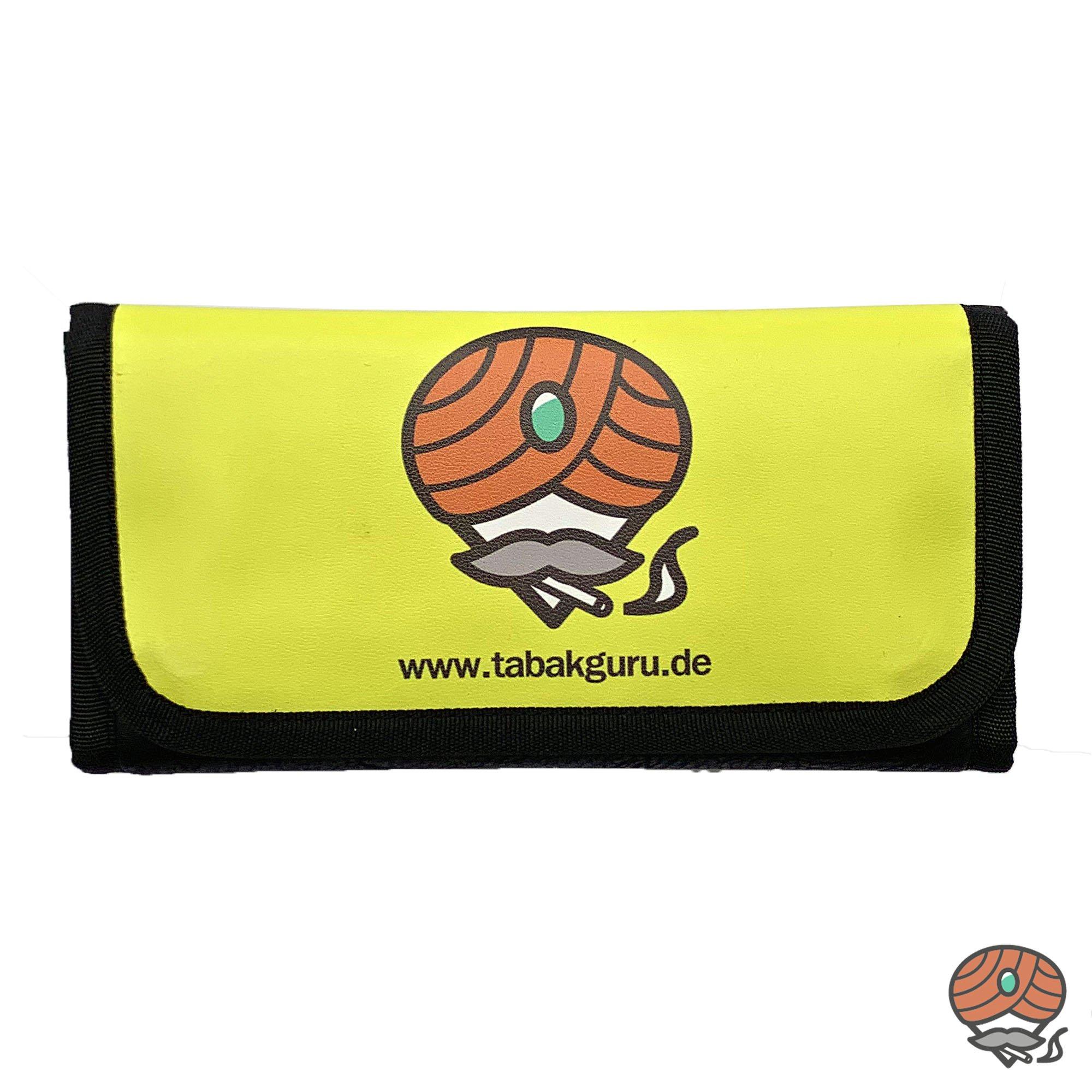 Tabakguru Tabak Beutel / Tasche für Drehtabak und Zubehör Gelb / Schwarz