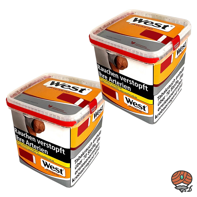 2 x West Yellow Fairwind Tabak / Volumentabak Box à 310 g