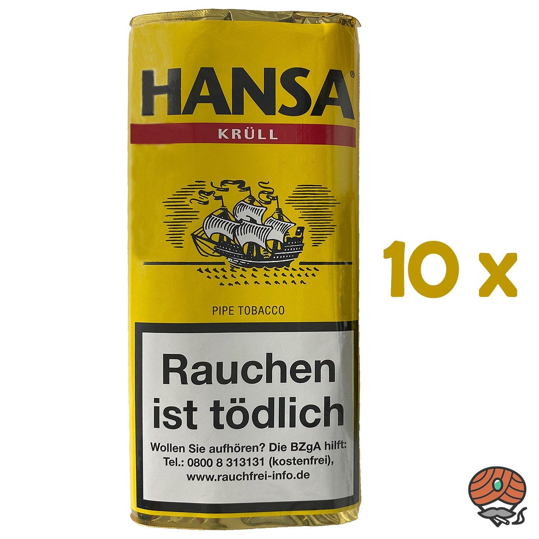 10x Hansa Krüll Pfeifentabak Pouch à 50 g