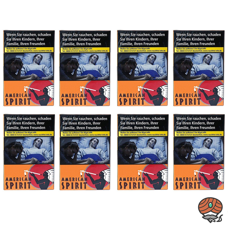 1 Stange American Spirit Original Orange Zigaretten XL 8x23 Stück