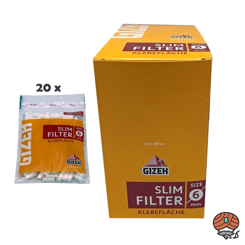 Gizeh Slim Filter 6 mm - 1 Karton = 20 x 120 Stück