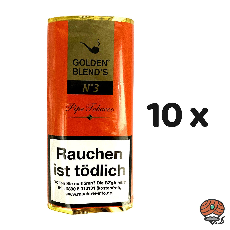 10 x Golden Blend´s No. 3 Pfeifentabak 50g Pouch (ehem. Amaretto)