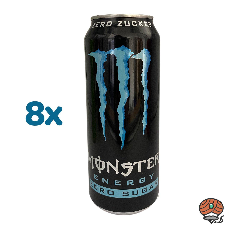 8 x Monster Zero Zucker Energy Drink, 500 ml Dose