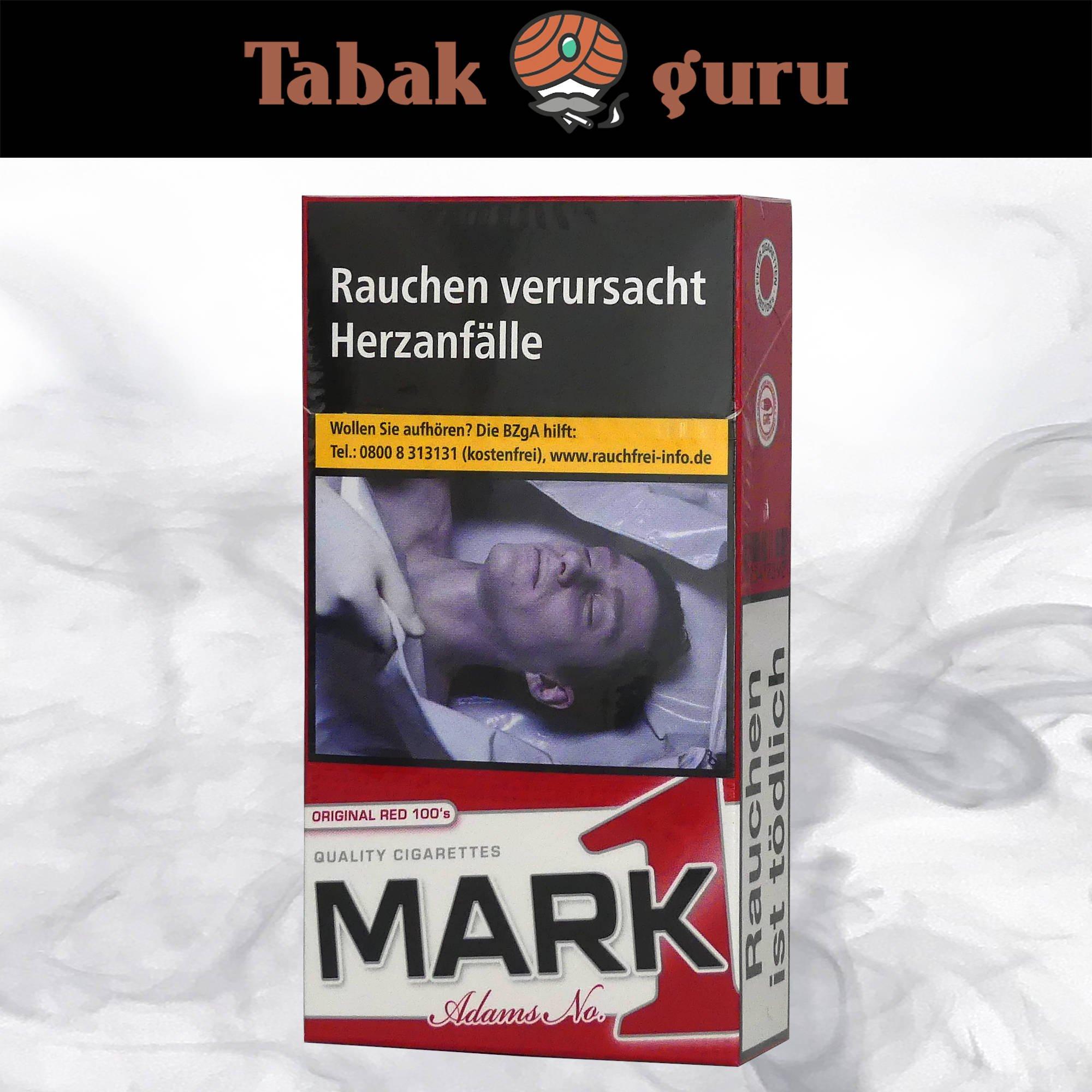 Mark Adams No. 1 / Mark1 Original Red 100's 20 Stück
