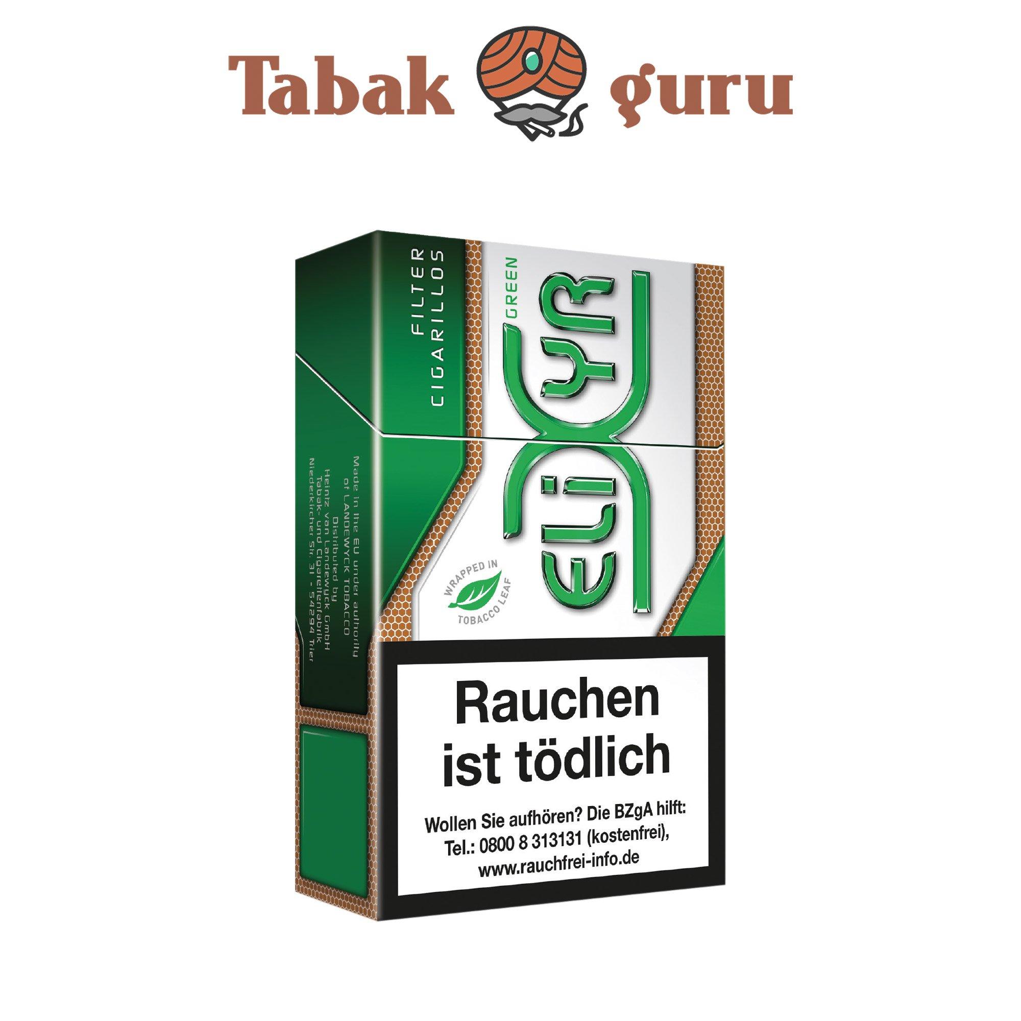 Elixyr Green Filter Cigarillos / Zigarillos - 17 Stück