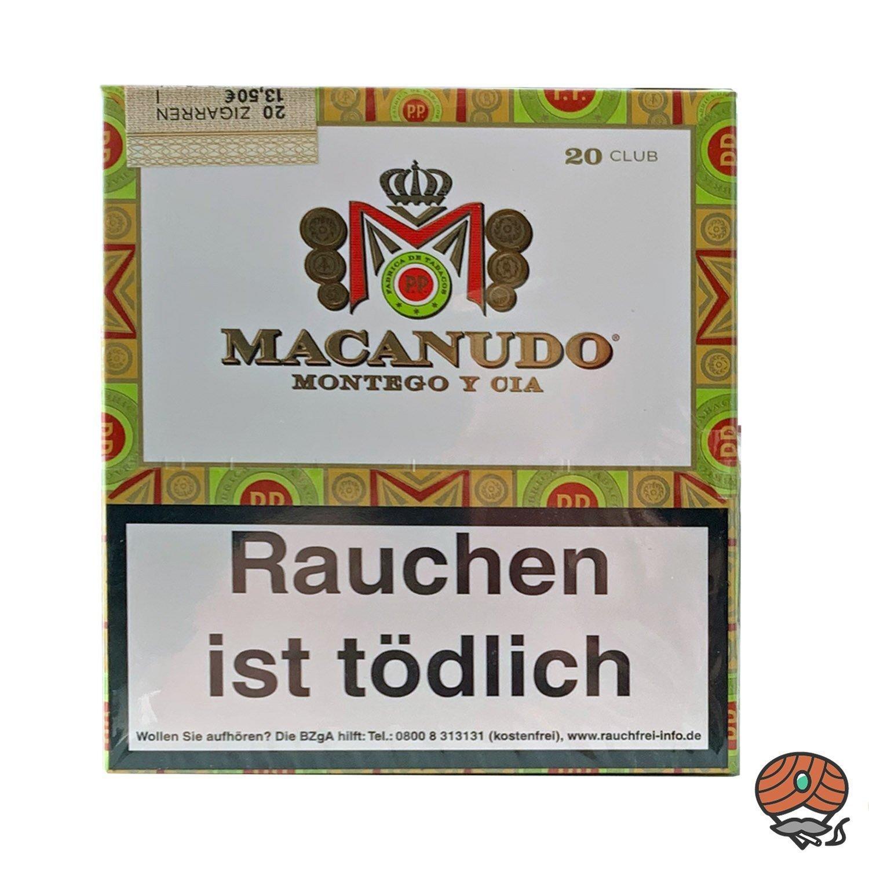 Macanudo Club 20er Packung Zigarren / Zigarillos