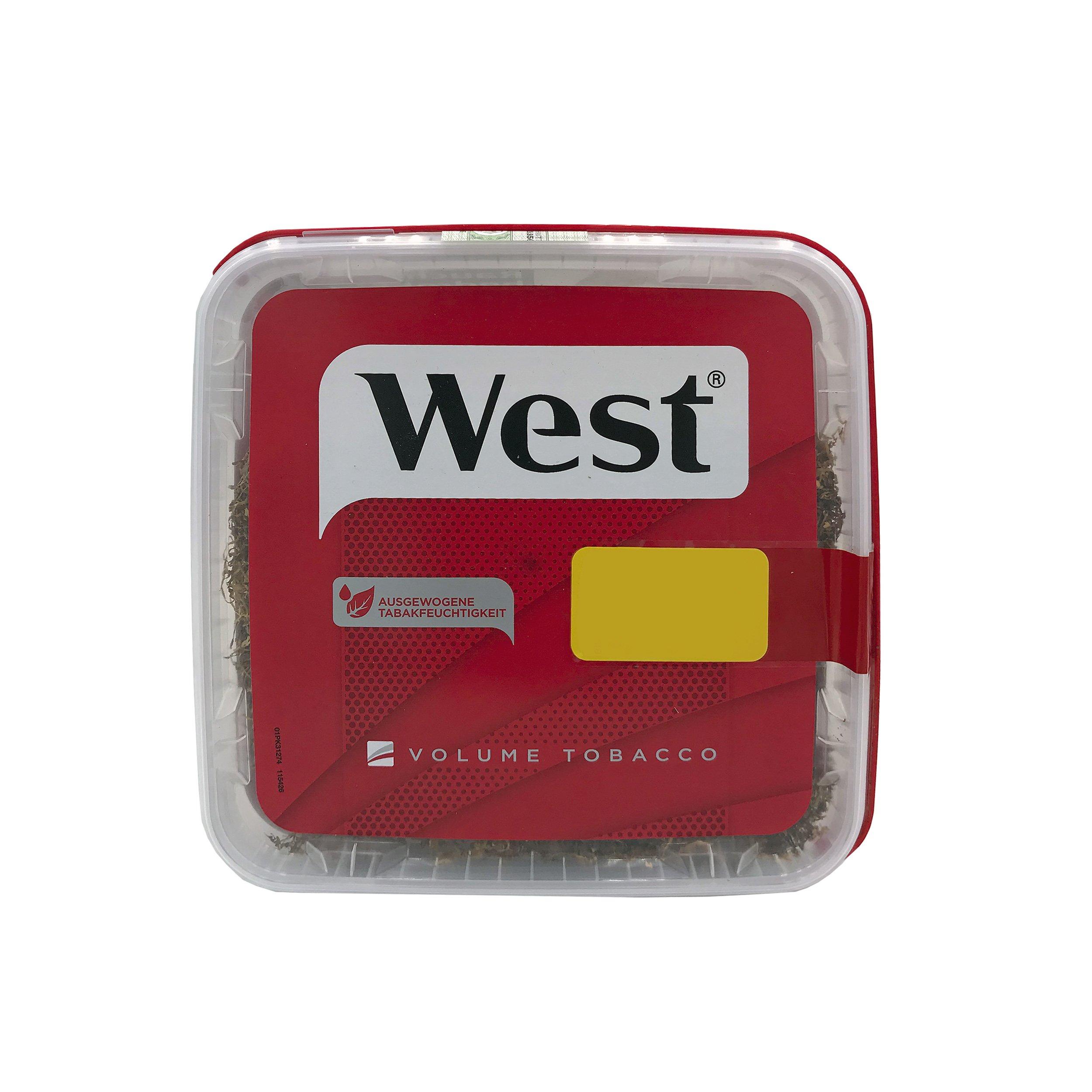 2 x West Red Tabak /Volumentabak Mega Box 280 g, 1000 West Extra Hülsen, Feuerzeuge