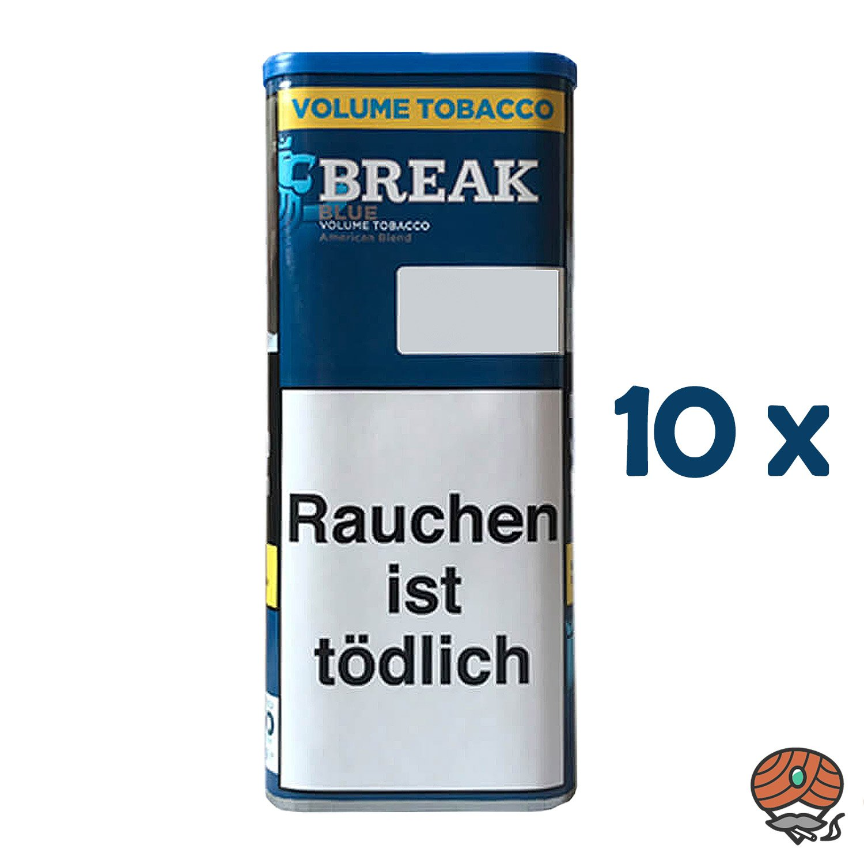 10x Break Blue / Blau Volumentabak / Tabak XXL Dose à 115g