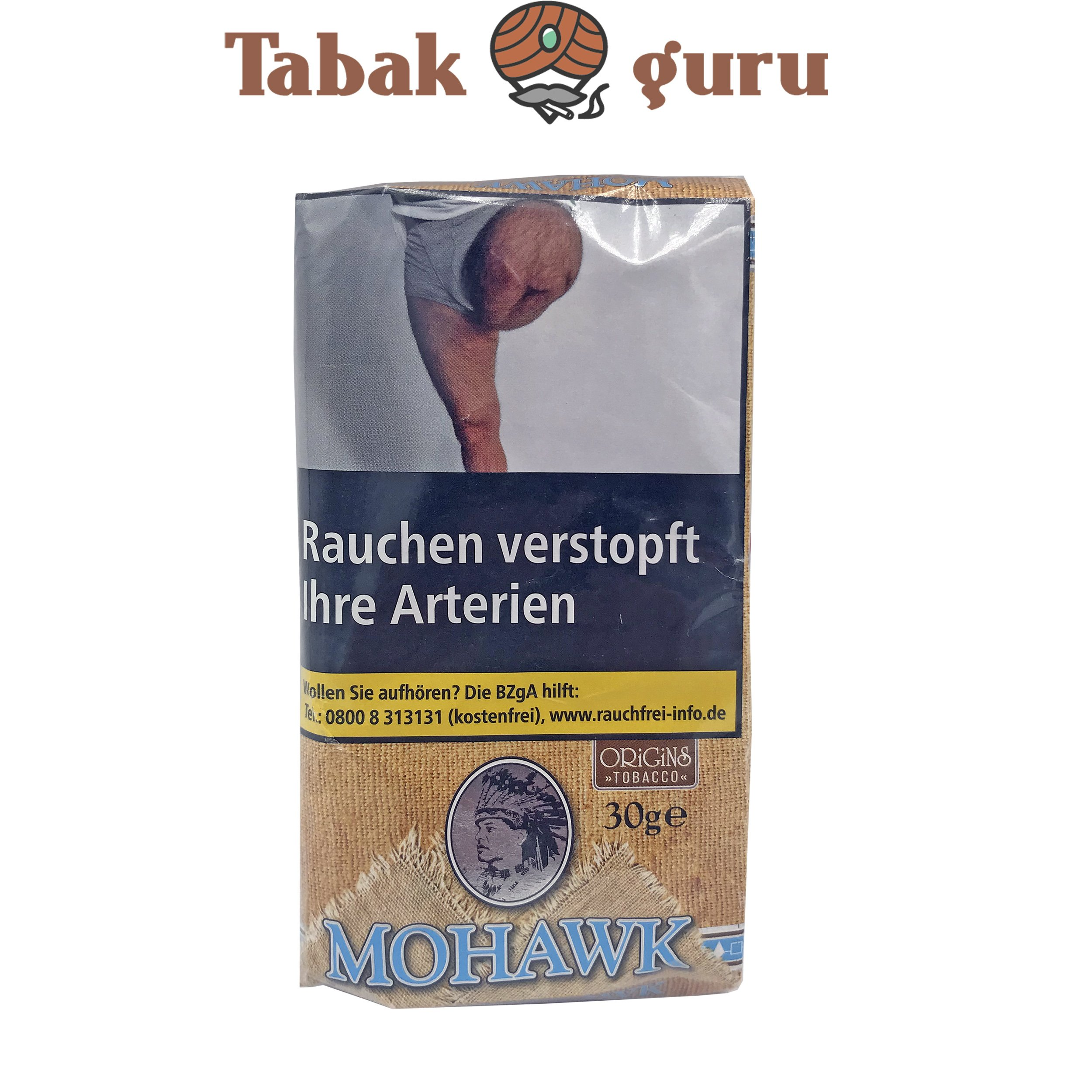Mohawk Origins Tobacco 30g Drehtabak Zigarettentabak