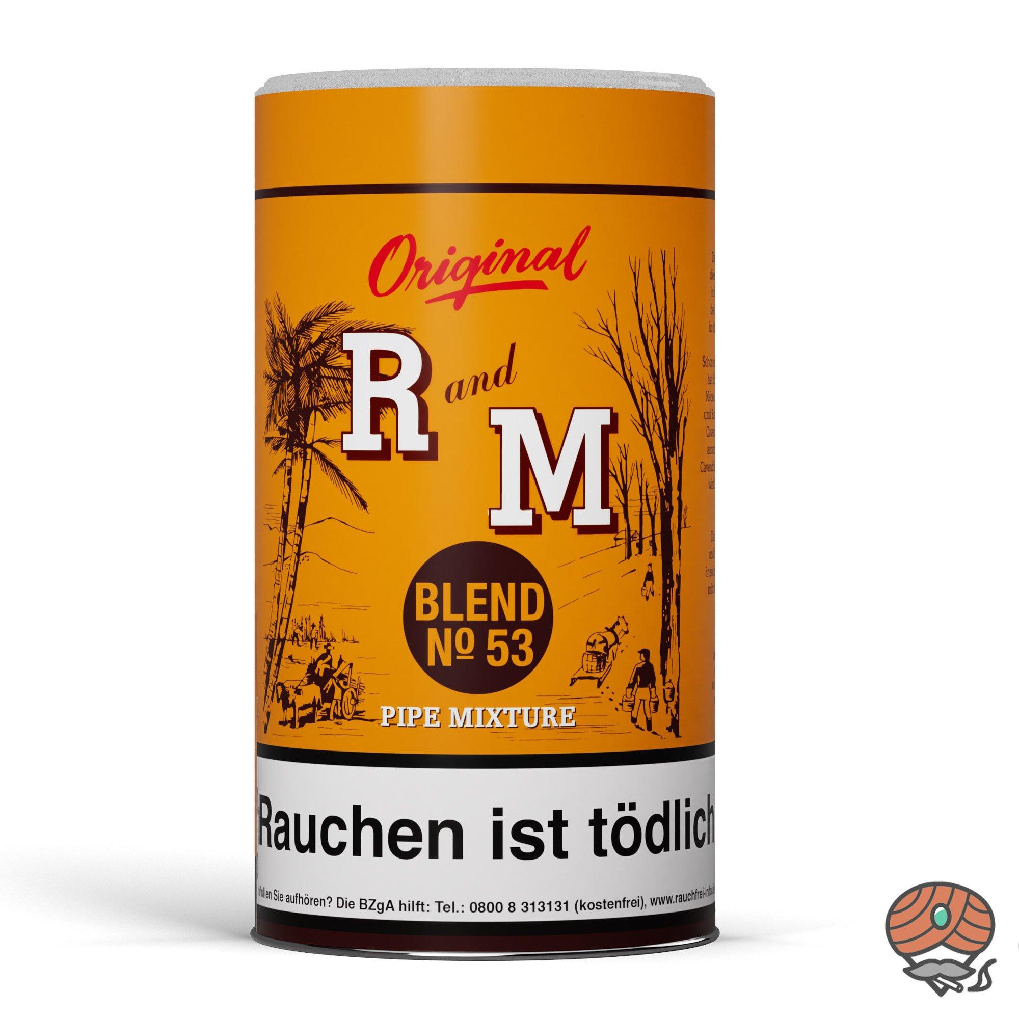 R und M (Rum and Maple) Original Blend No. 53 Pfeifentabak 250g Dose