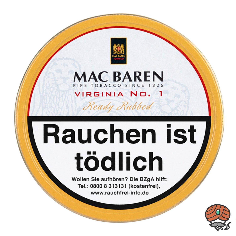 Mac Baren Virginia No. 1 Pfeifentabak 100g Dose