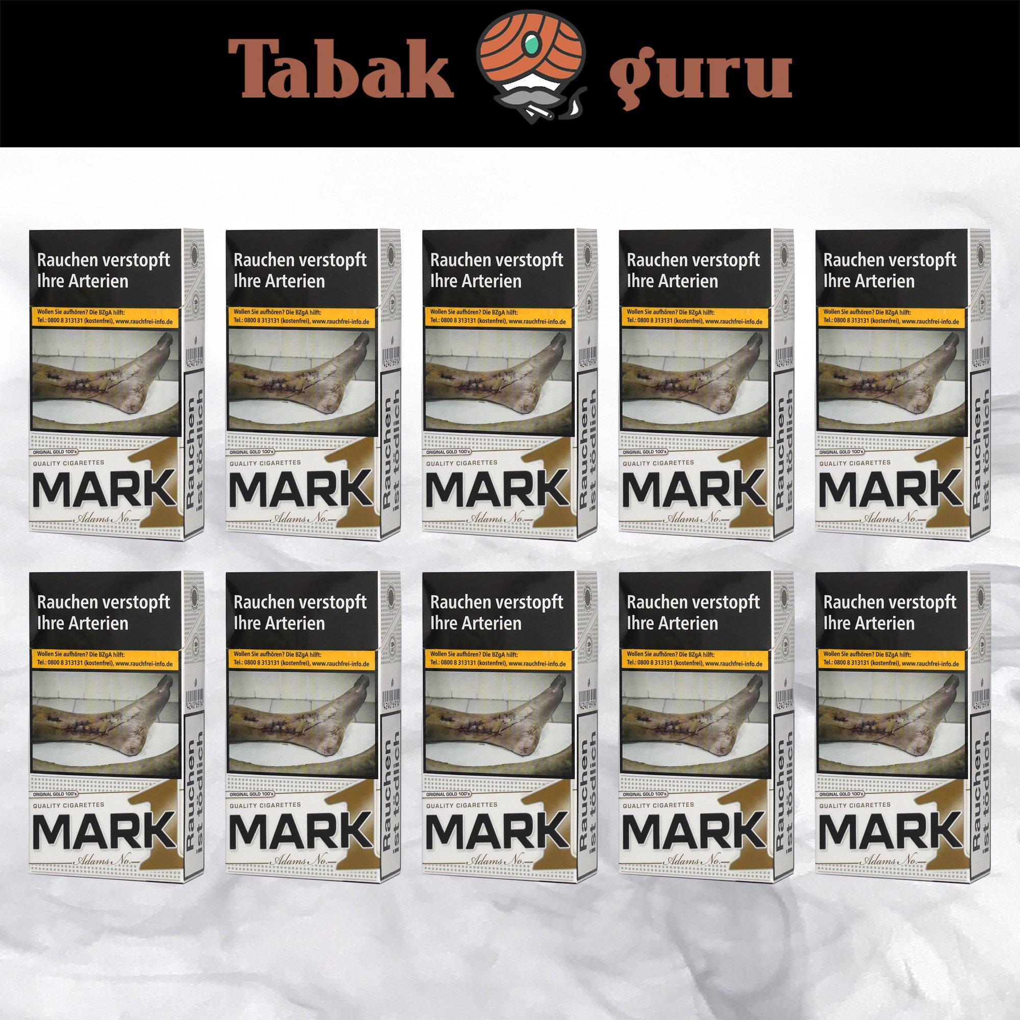 1 Stange Mark Adams No. 1 / Mark1 Original Gold Zigaretten 100's 10x20 Stück