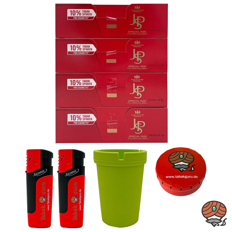 4 Pack JPS John Player Special Extra Filterhülsen + Autoaschenbecher + Zubehörartikel