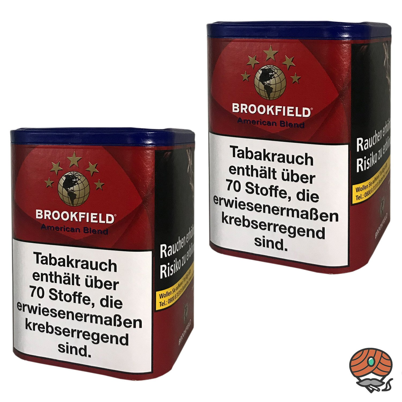 2x Brookfield American Blend Zigarettentabak, Feinschnitt-Tabak Dose à 120g