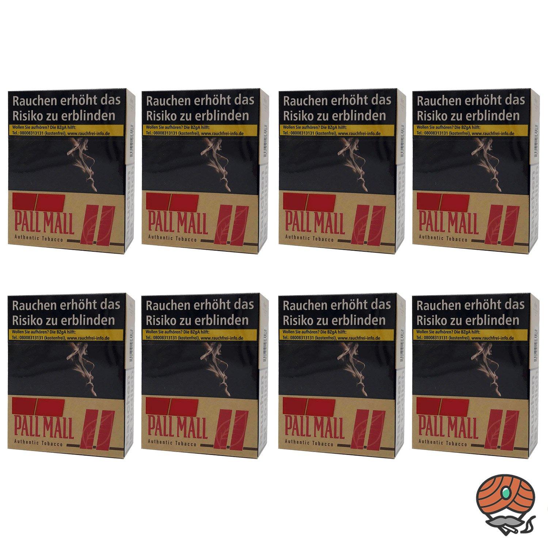 1 Stange Pall Mall Authentic Red/Rot Zigaretten ohne Zusätze Giga Box 8x33 Stück
