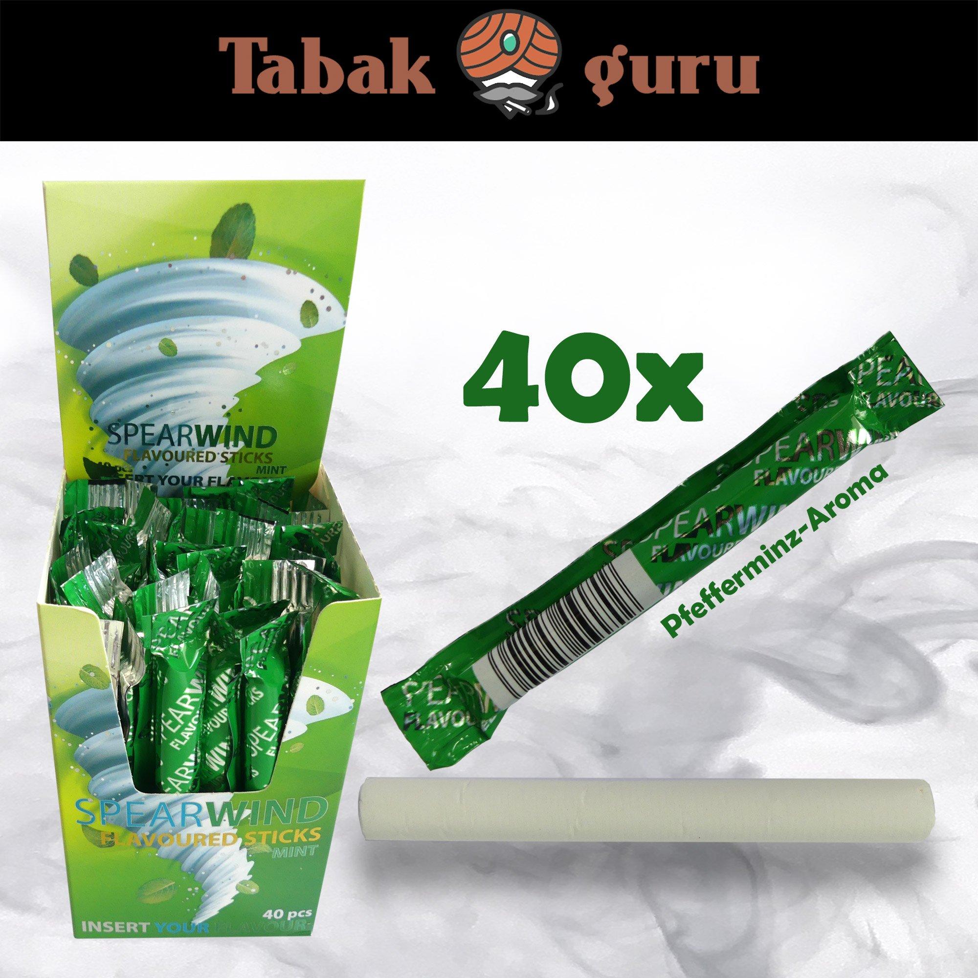 40 x SPEARWIND MINT Pfefferminz-Aroma für Zigaretten & Tabak - Aroma-Sticks