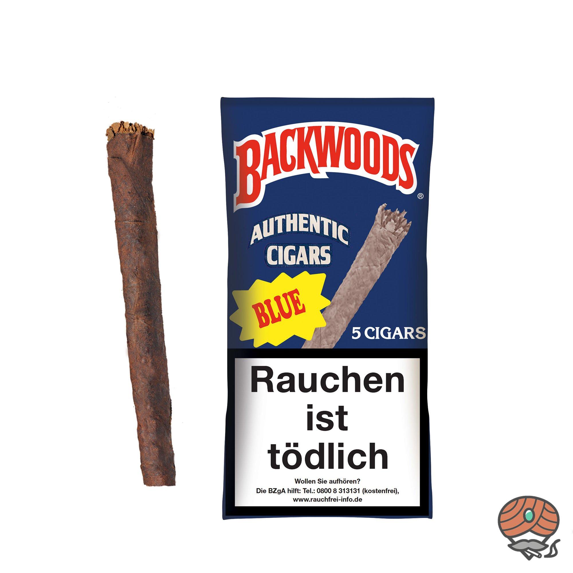 Backwoods Blue Authentic Cigars 5 Stück 100% Tabak im Humipack