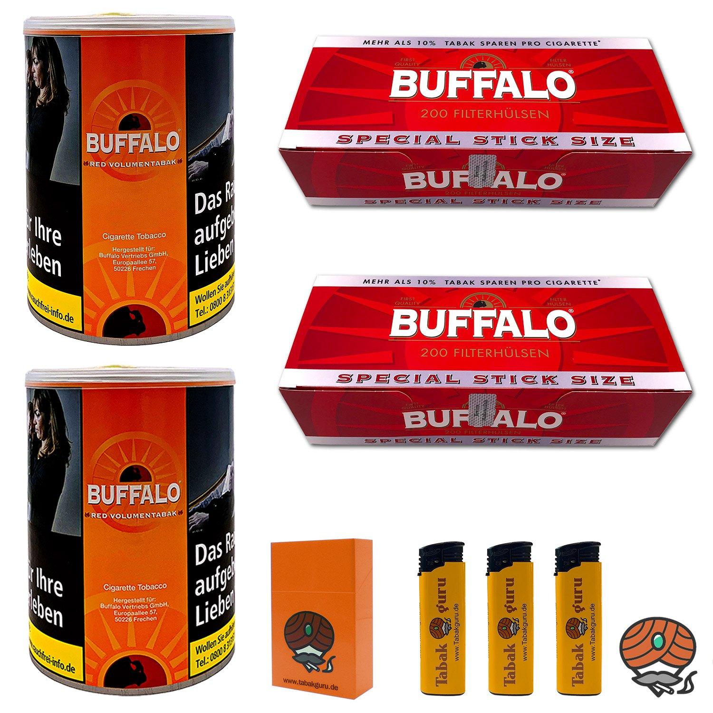 2x Buffalo Red 75g Dose + 2x Buffalo Red Extra-Hülsen + Zubehör