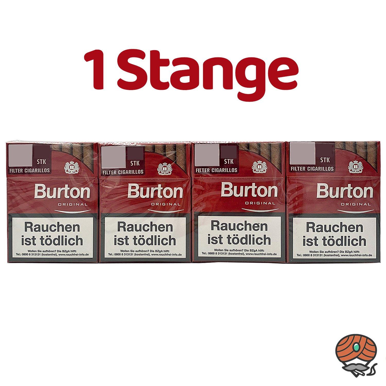 8 Schachteln Burton Original Filterzigarillos (25 Stück/ Schachtel)