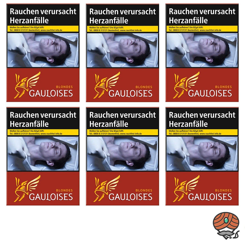 1 Stange Gauloises Blondes Rouge / Rot Zigaretten XXXL Schachtel 6x31 Stück