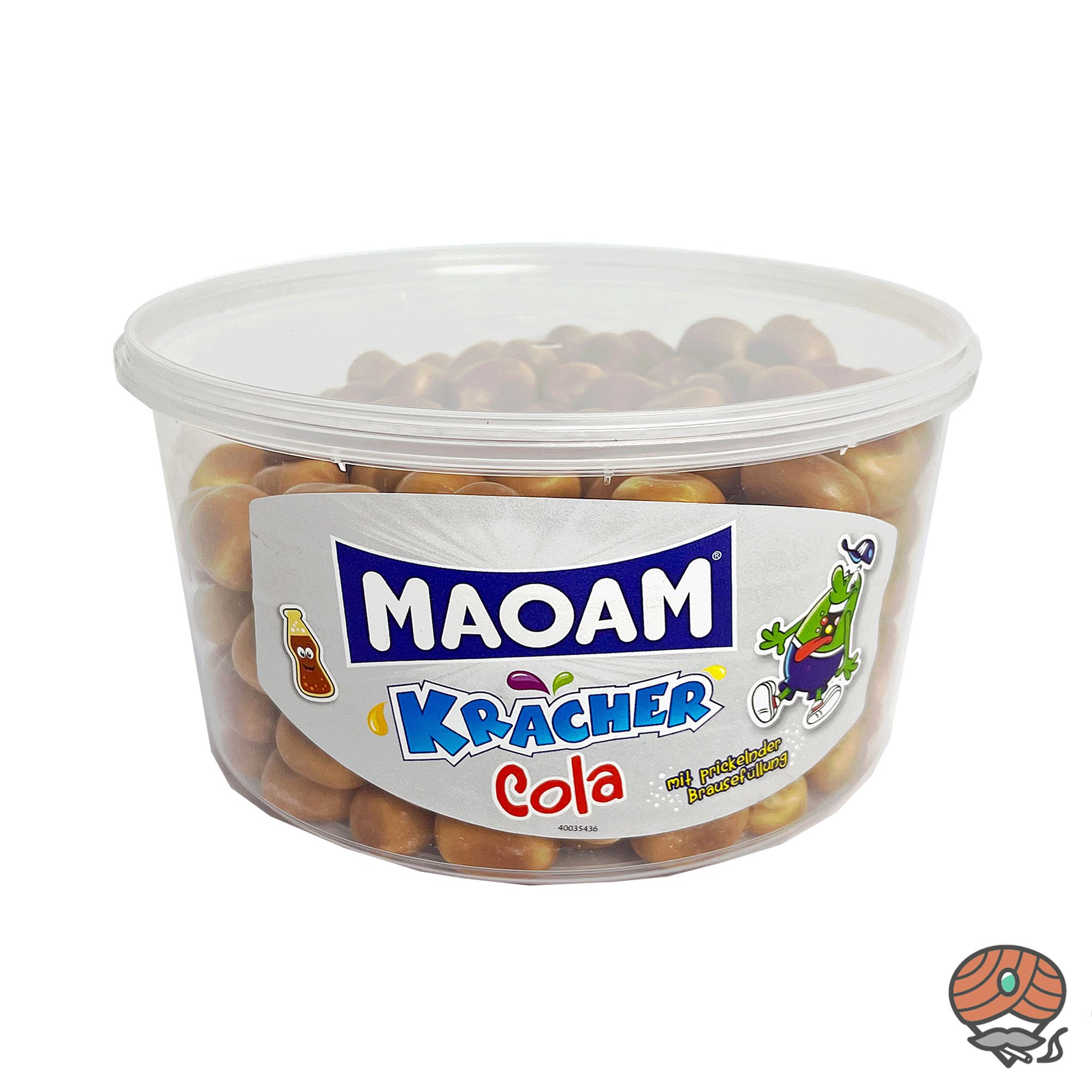 MAOAM Kracher-Cola Kaudragees mit prickelnder Brausefüllung