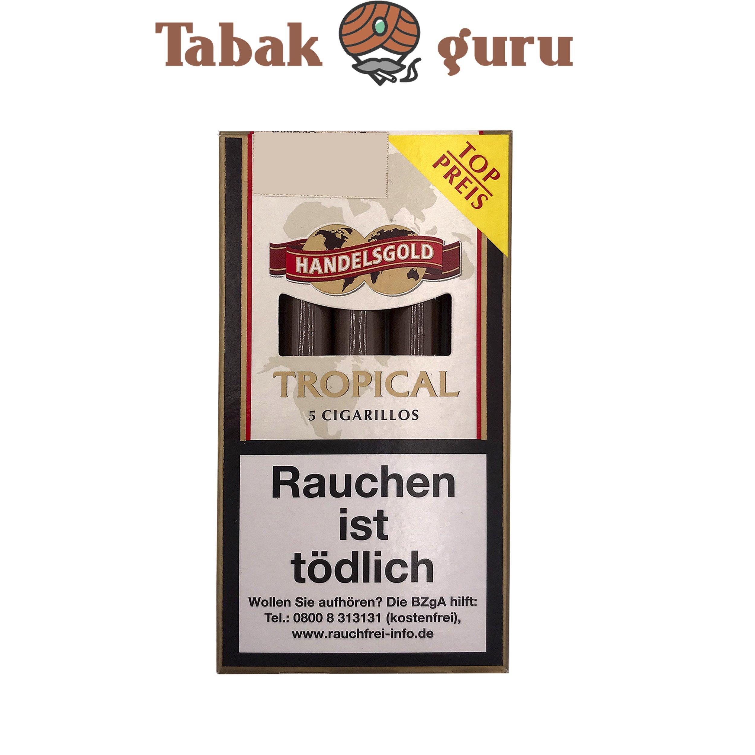 Handelsgold Tropical No. 190 Filterzigarillos a 5 Stück