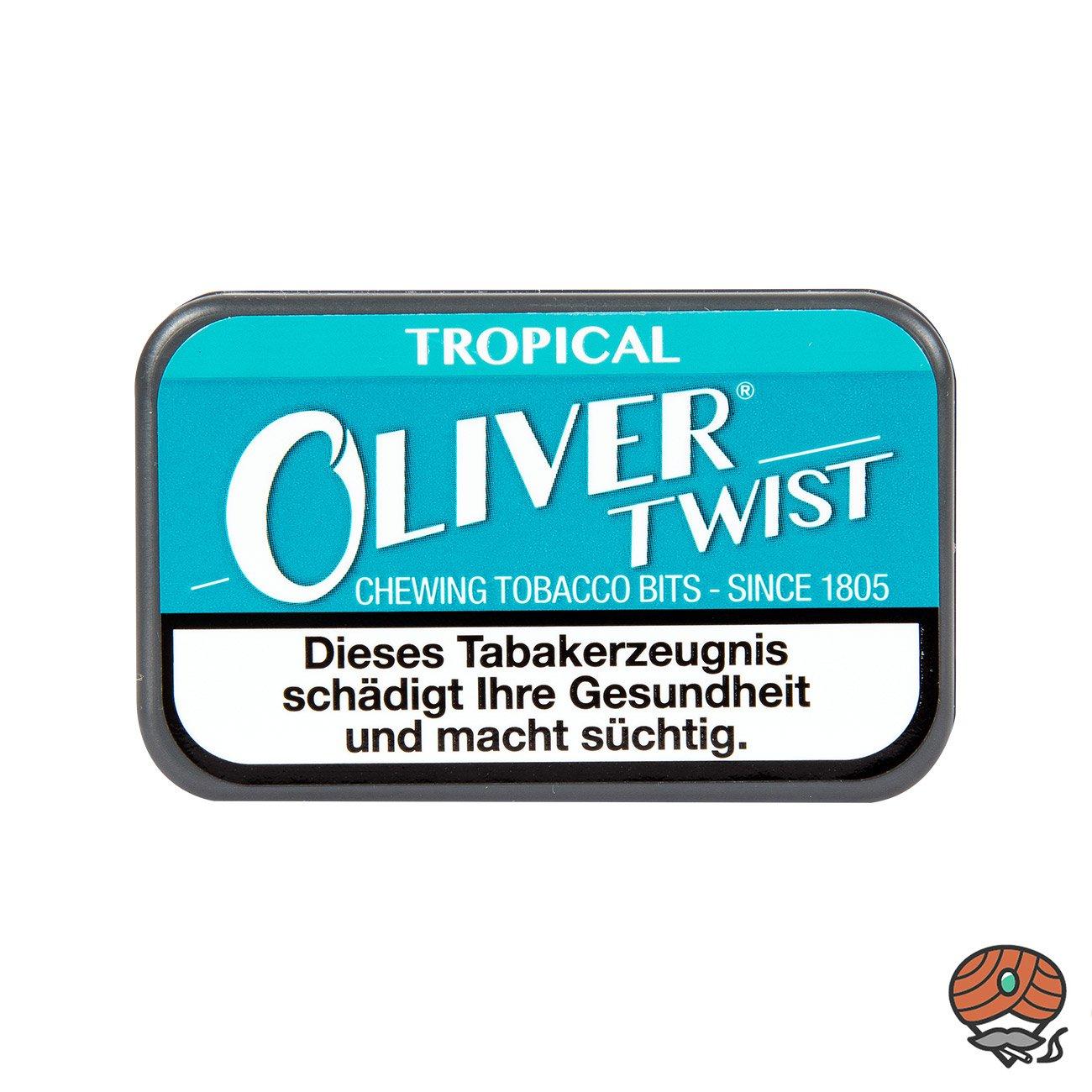 Oliver Twist TROPICAL Tabakpastillen, Kautabak, Chewing Bits