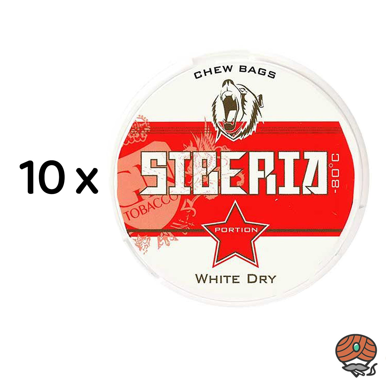 10x Siberia 80° Extremely Strong White Dry Kautabak Dose