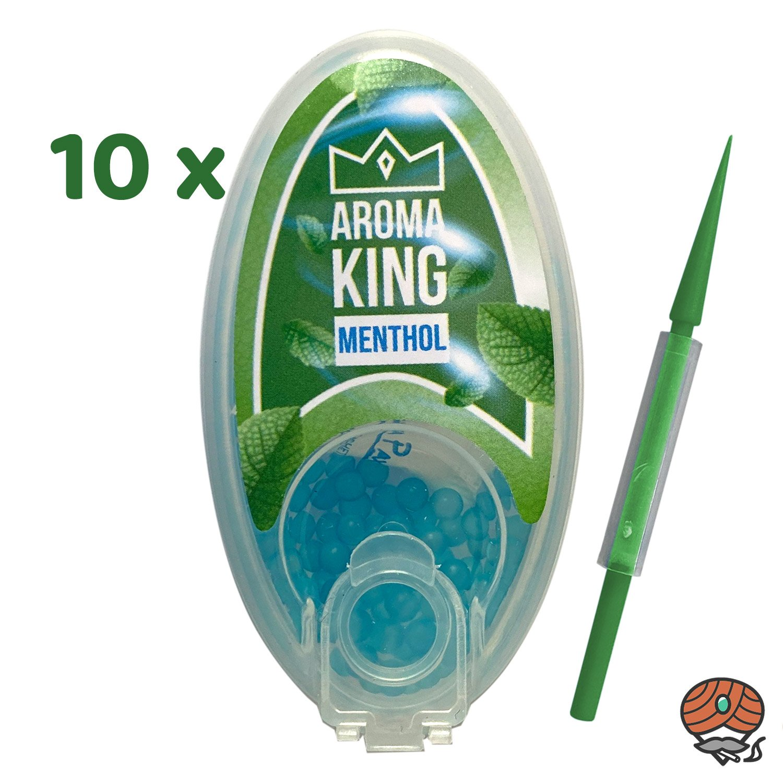 10 x MENTHOL Aroma King Aromakapseln für Filterzigaretten à 100 Kapseln