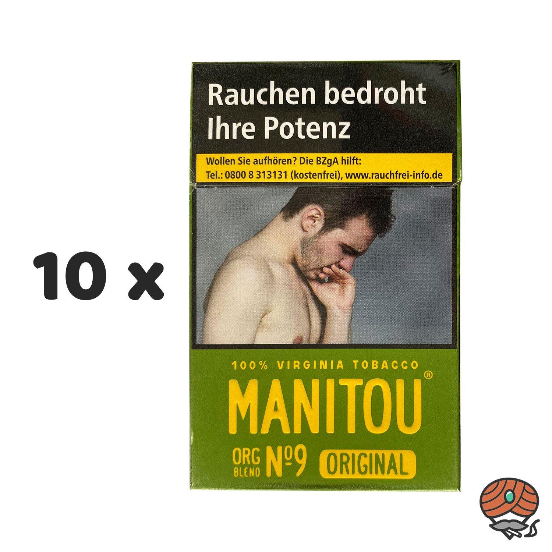 10 x Manitou Organic Blend Original No. 9 Green Zigaretten à 20 Stück - 1 Stange