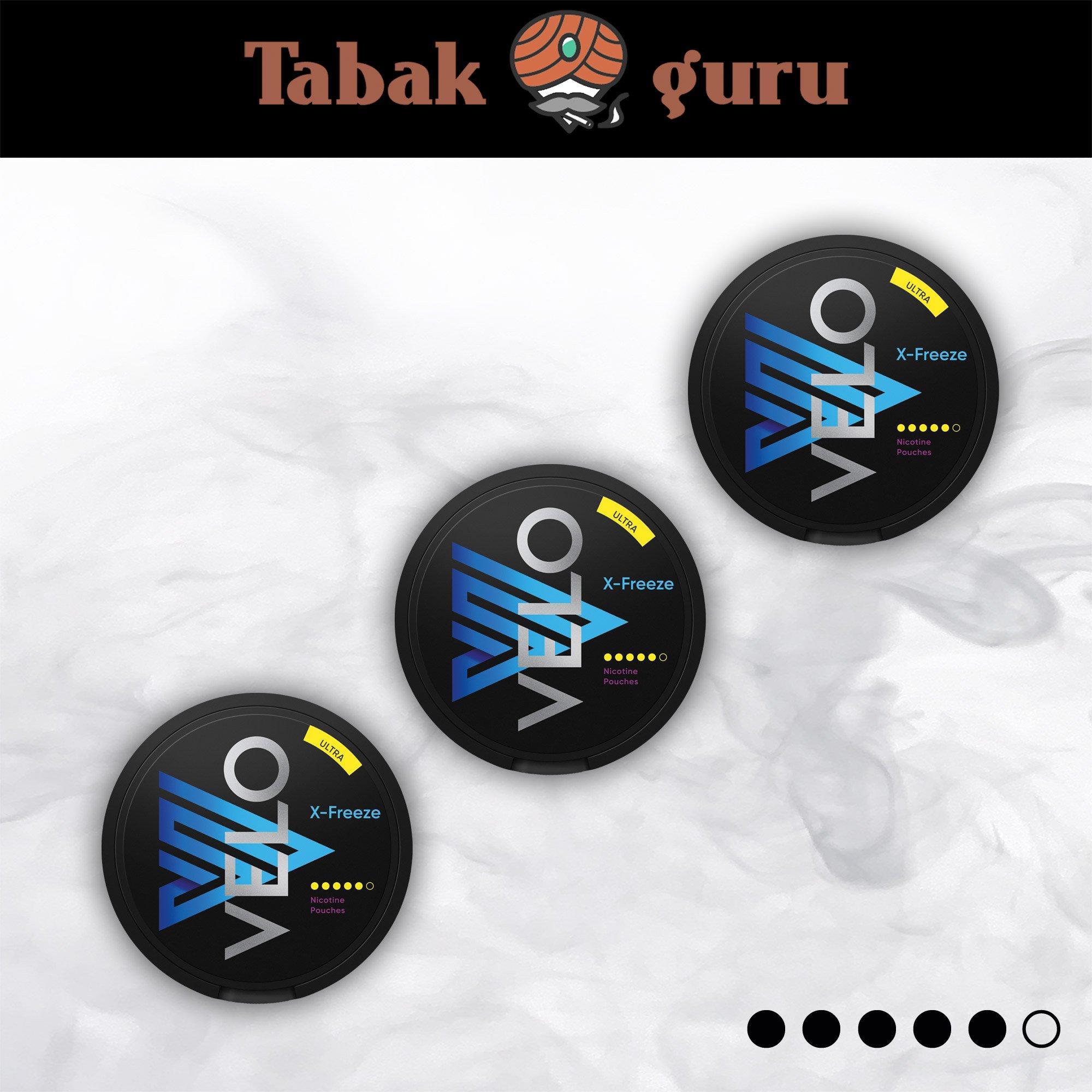 3 x VELO X-Freeze Ultra Kautabak Intensität 5