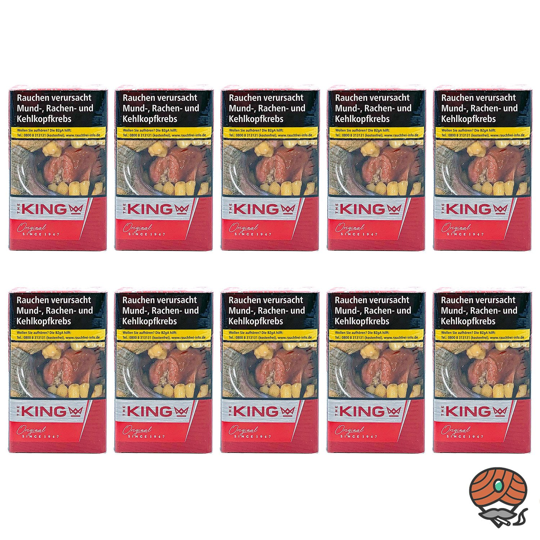 1 Stange The KING Original Red / Rot Zigaretten 10x20 Stück