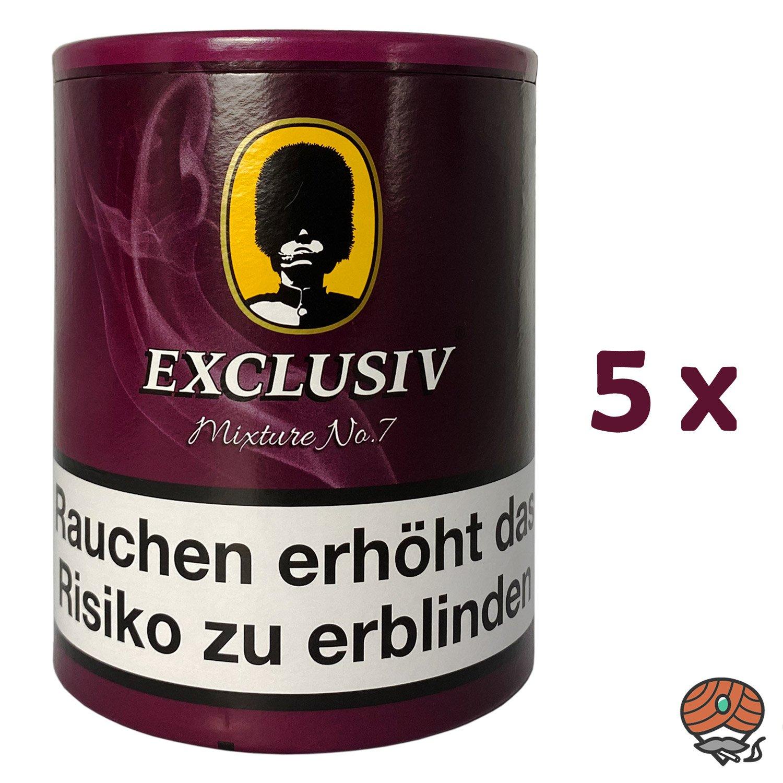 5x EXCLUSIV Mixture No. 7 Pfeifentabak Dose à 200g