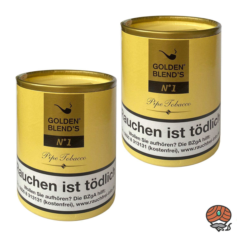 2 x Golden Blend´s No. 1 Pfeifentabak 200g Dose (ehem. Vanilla)