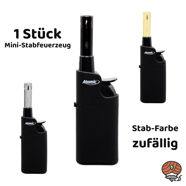 Atomic Mini Stabfeuerzeug Black Line