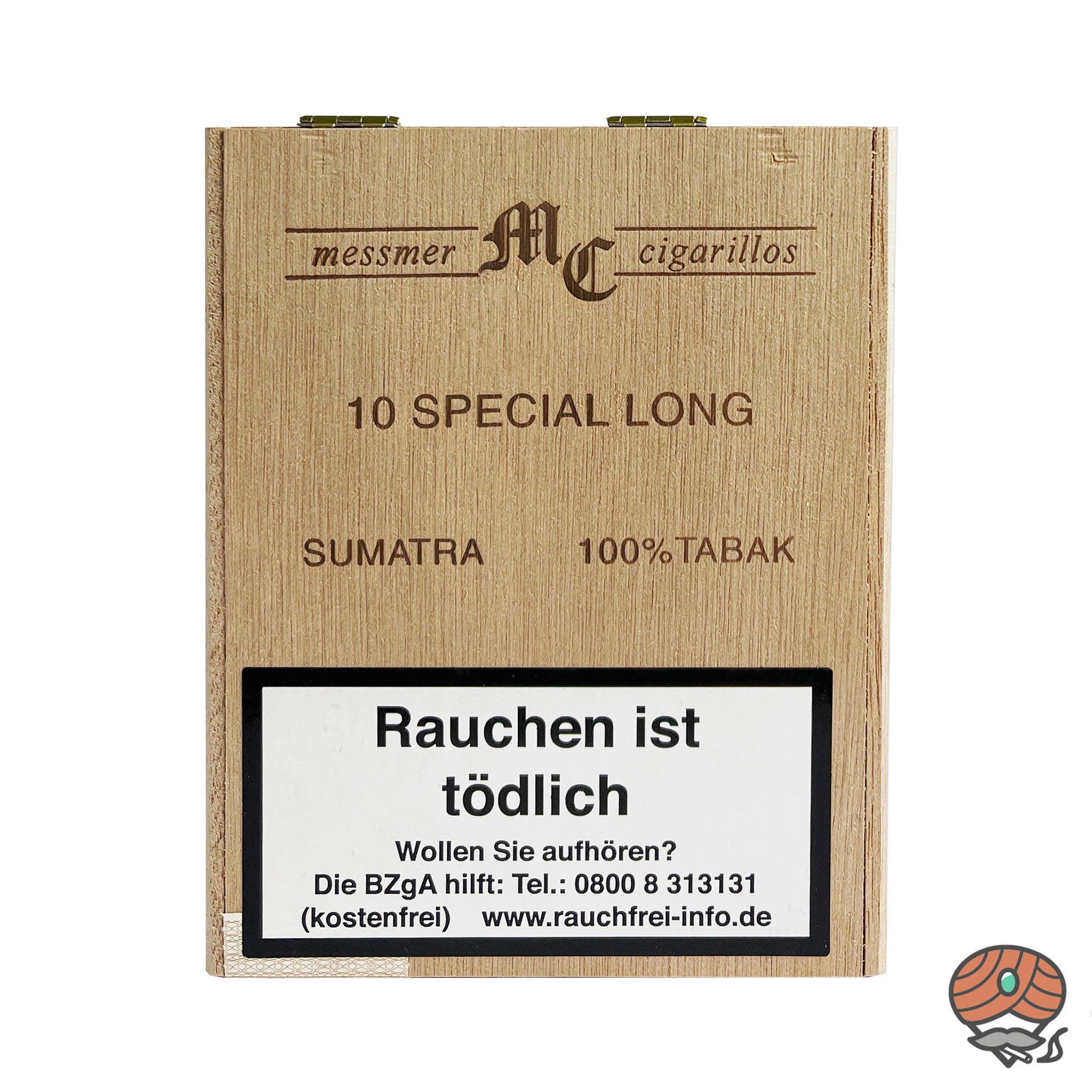 MC messmer cigarillos Special Long Sumatra Zigarillos 100 % Tabak