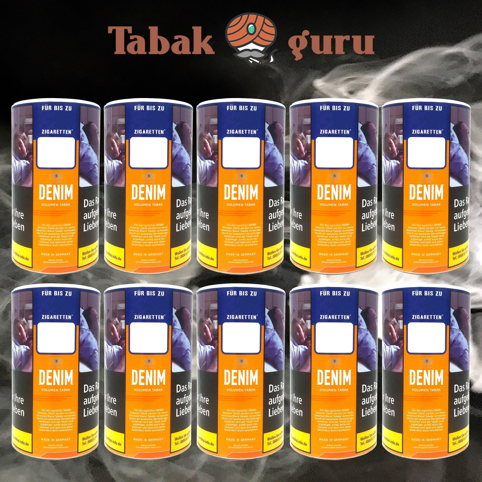 10 x Denim Volumentabak / Stopftabak 95g Dose