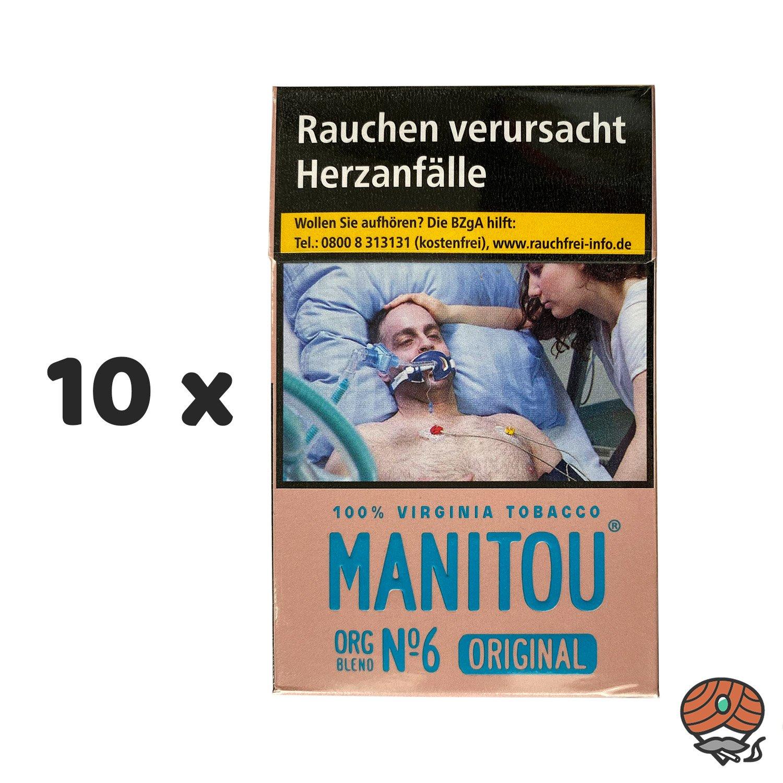10 x Manitou Organic Blend Original No. 6 Pink Zigaretten 20 Stück - 1 Stange
